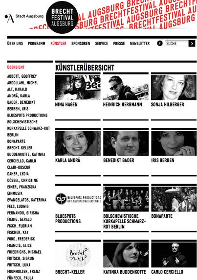 Brecht Festival Augsburg